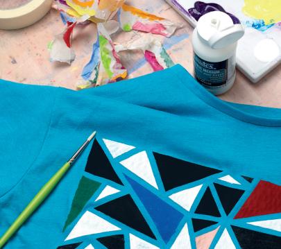 Te enseñamos a pintar en telas con las tintas profesionales de Liquitex