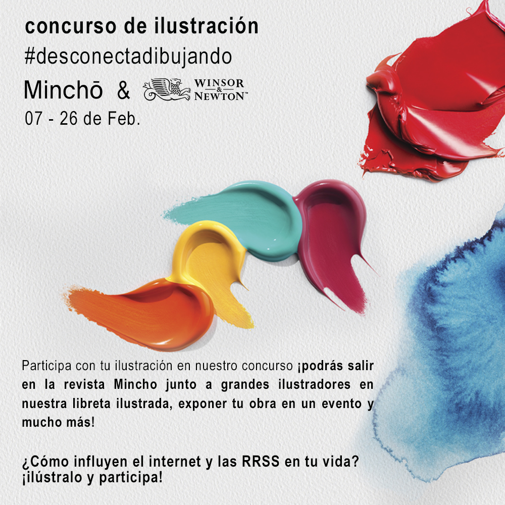 #desconectadibujando con Winsor & Newton y Mincho Magazine. ¡Participa en nuestro concurso!
