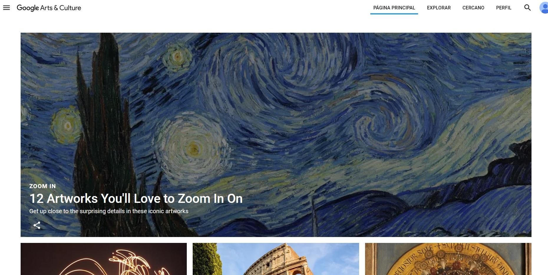 Google Arts & Culture, el arte y la cultura al alcance de todos