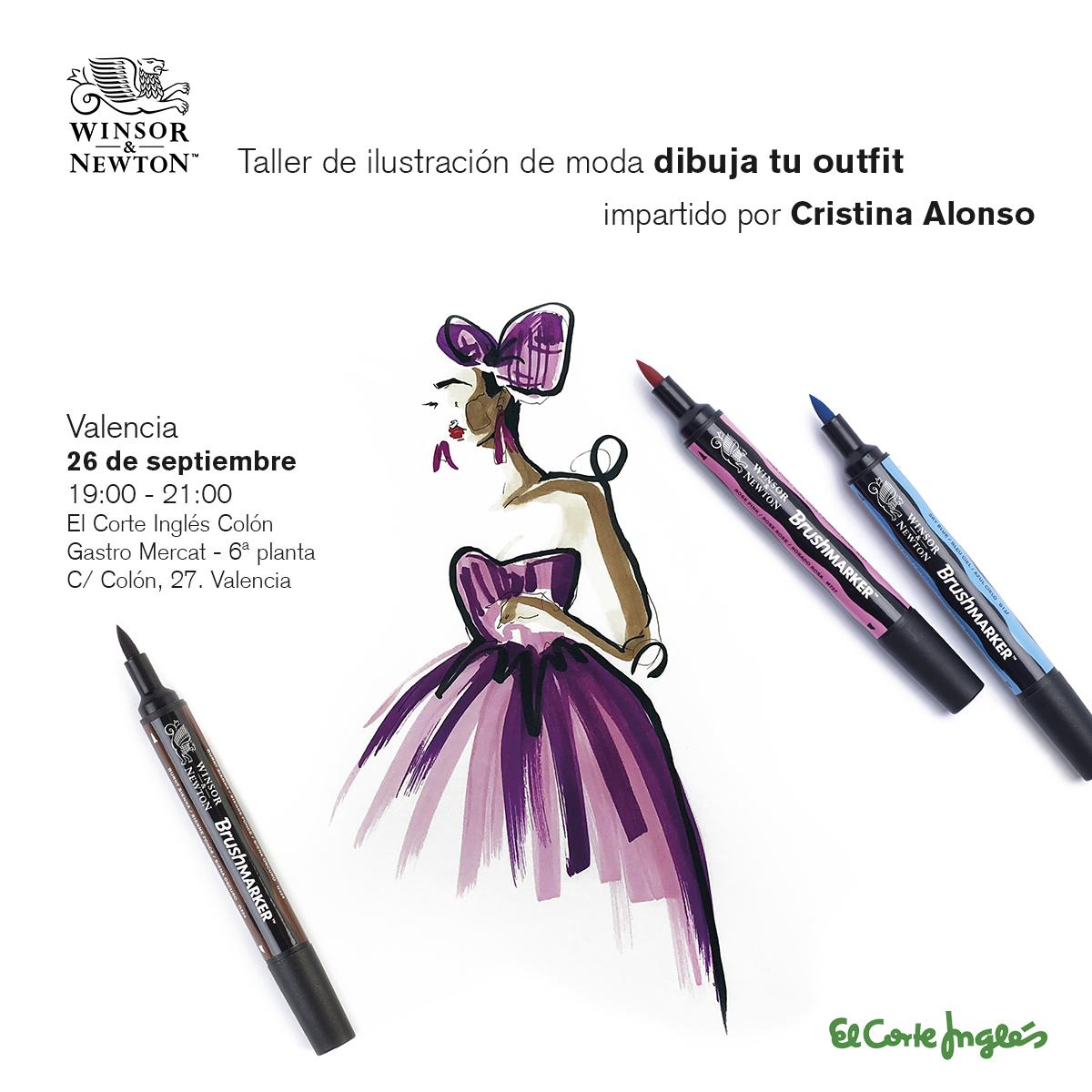 """Talleres gratuitos de ilustración de moda """"Dibuja tu Outfit"""" de Winsor & Newton"""