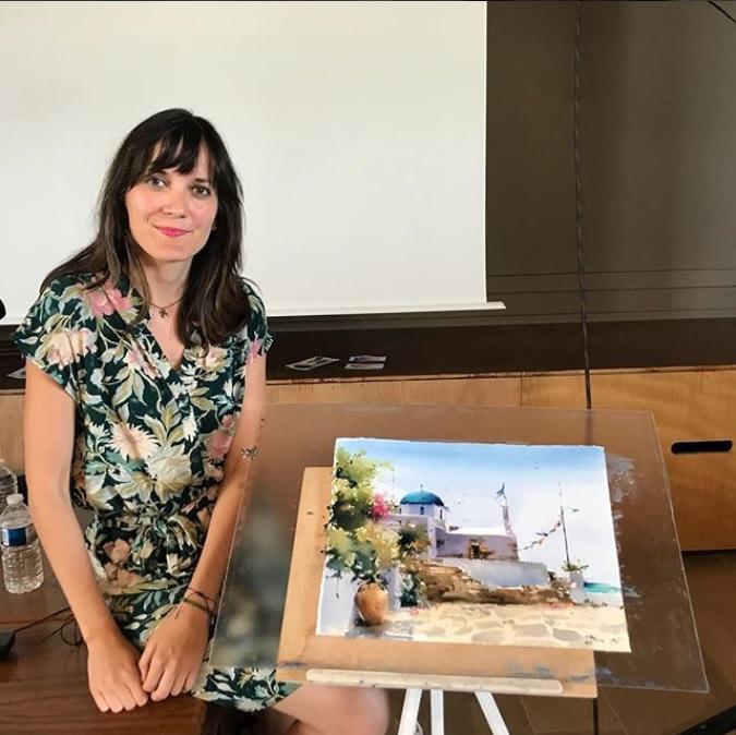 Entrevista TFAC a la acuarelista Blanca Álvarez – Día Mundial de la Acuarela