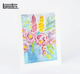 Tutorial DIY con Liquitex – Cómo pintar flores estilo acuarela