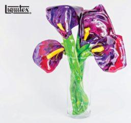 Tutorial DIY con Liquitex – Cómo crear un ramo de flores con láminas de pintura acrílica