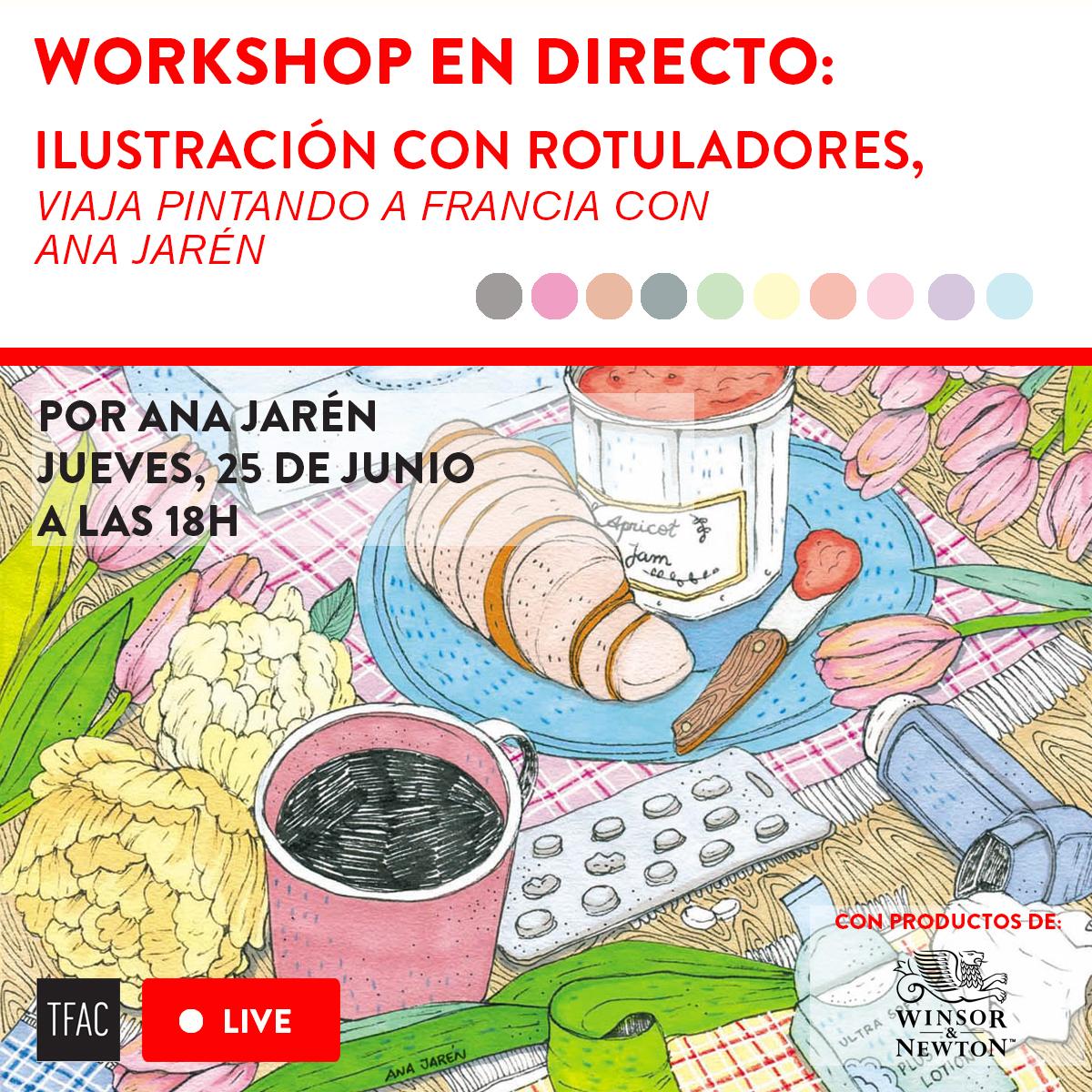 Viaja pintando a Francia con Ana Jarén: workshop de ilustración con rotuladores