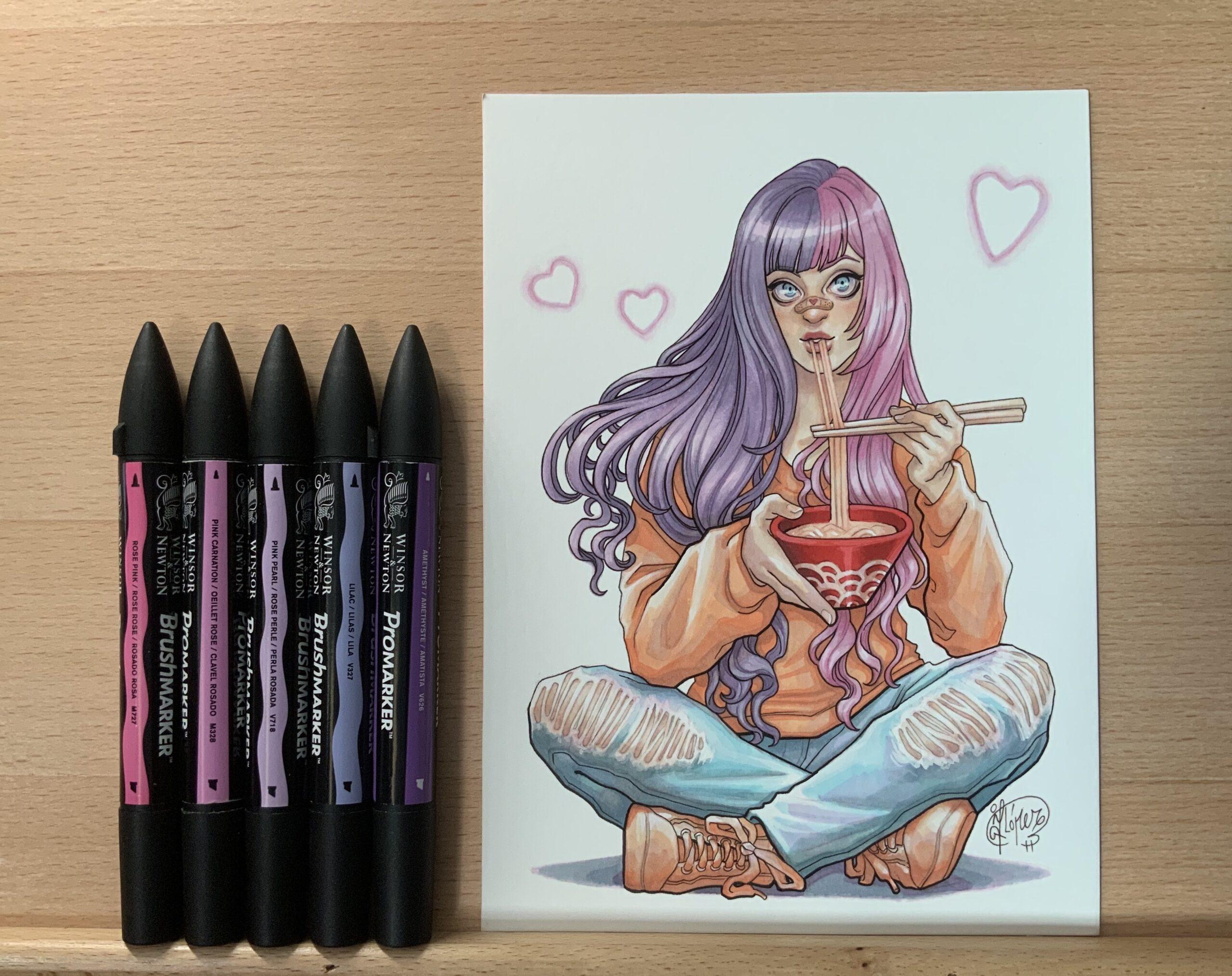 Tuturial para ilustrar chica otaku estilo anime por la ilustradora J. Giner