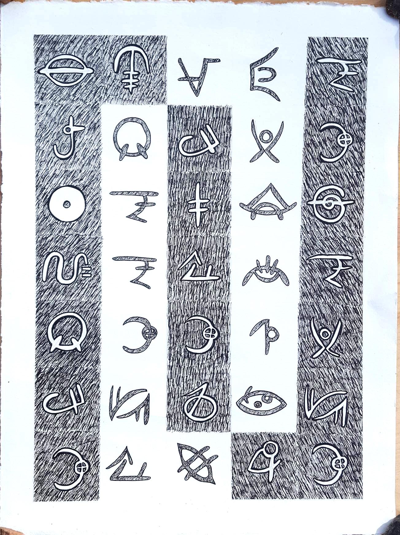 Inventa tu propio abecedario con los rotuladores Fineliners de Winsor & Newton