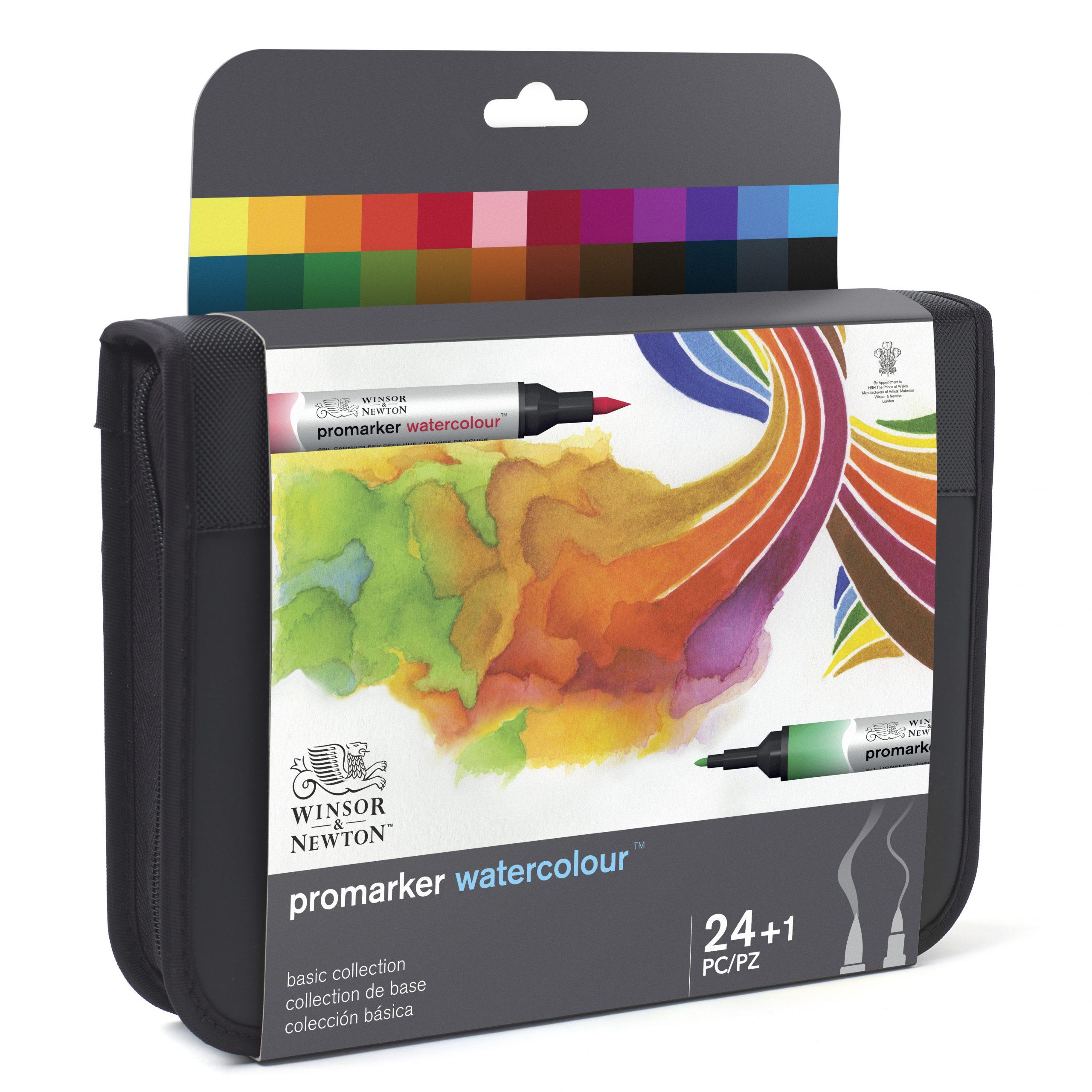 Los 24 colores que del nuevo set Promarker Watercolour de Winsor & Newton