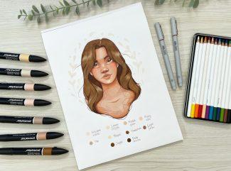 Tutorial Promarker Skin Tones by Cristina Luengo x Winsor & Newton