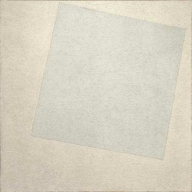 "Malevich ""Blanco sobre Blanco"""