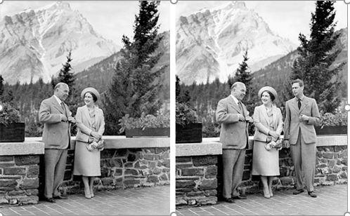Fotografia de 1939 en la que el Príncipe Jorge es eliminado de la foto