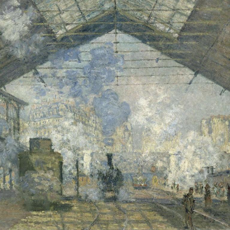 Estación de San Lázaro de Claude Monet